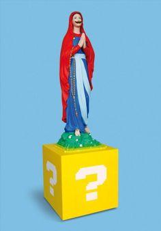 Soasig Chamaillard caracteriza a la Virgen María como Super Mario