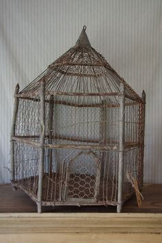 old wire gothic bird cage | Stalking Cat – Antiques Woodend Australia
