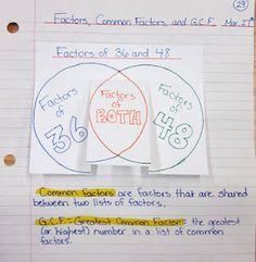 Math journal foldables