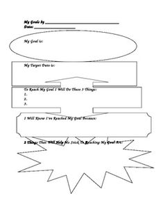Student Goal Setting Worsheet - guides students in making specific, observable, and measurable goals