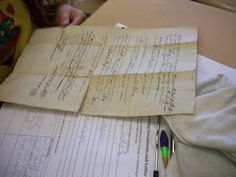 Using old documents to help students learn how to make inferences.