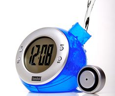 Water Powered Clock. No batteries, wires or electricity. Just fill w/tap water! $25