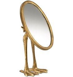 Tabletop Mirror with Mallard Feet. I've been a long time fan of this quirky but beautiful tabletop mirror. I adore pieces that are full of charm.