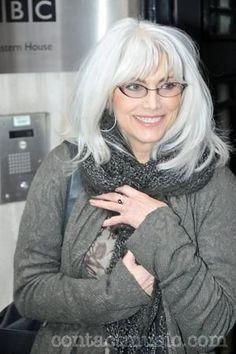EmmyLou Harris - hair & those eyeglasses!