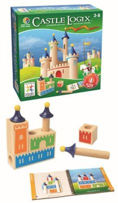 Castle Logix (847563000241) A fun, unique twist on puzzle games; Build castles A wooden game made from high quality materials 48 Challenges included, from easy to very complex Early challenges are great for beginners Helps develop logic and spatial reasoning skills