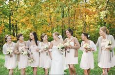 Sweaters On Bridesmaids