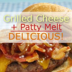 The Chew Grilled Cheese + Patty Melt = Grilled Cheese Hamburger Recipe