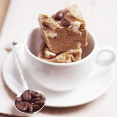 Latte Fudge - includes a shot of espresso! Click here for more Christmas candies and treats: http://www.midwestliving.com/food/holiday/delectable-christmas-candies-and-treats/page/10/0 coffee lovers, holiday, christmas sweets, fudge recipes, christmas candy, christmas treats, christma candi, latte, latt fudg