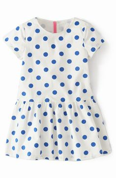 Mini Boden 'Spotty' Dress (Toddler Girls, Little Girls  Big Girls)