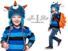 crochet hat, monster hat, sea monsters