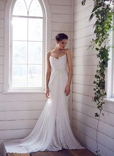 White sequin wedding dress by Karen Willis Holmes
