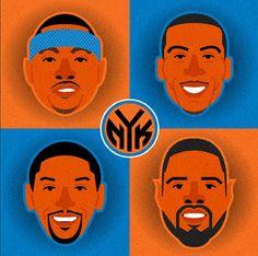 new york knicks illustration by http://instagram.com/jmariaruiz