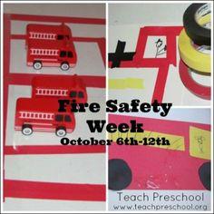 Fire safety week by Teach Preschool
