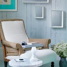 Chalky weiß und mint Wohnzimmer Wohnideen