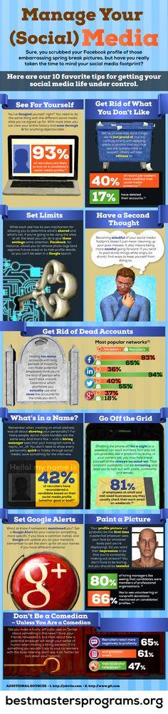 Manage your (social) media - #SocialMedia #Infographic