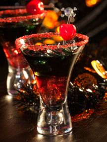 Devil's Blood Ingredients you need 5-6 oz. Cranberry juice 2 oz. Black Vodka How to make a Devil's Blood Fill a tall glass with ice. First pour in the cranberry juice fill about 3/4 of the glass. Slowly pour the black vodka on top.