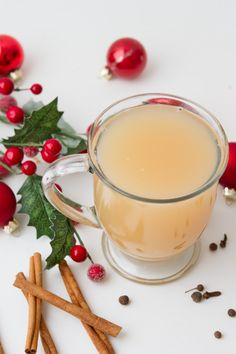Spiced Pear Cider #sugarfree #healthychristmas