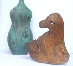 Driftwood Sculpture Unique Beach Wood Bald Eagle Head