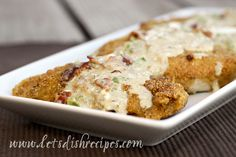 Cornbread Crusted Chicken with Jalapeno Popper Sauce