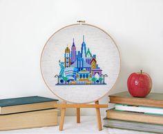 Pretty Little New York  Modern Cross stitch by SatsumaStreet, $6.00