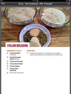 Low Carb Italian Breading #keto #lchf #lowcarbs #diet #recipes