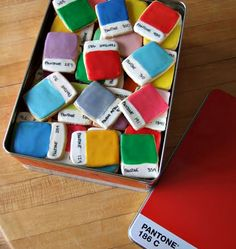 Pantone Cookies themed birthday parties, chips, graphic designers, food, panton cooki, happy colors, panton chip, cookies, pantone