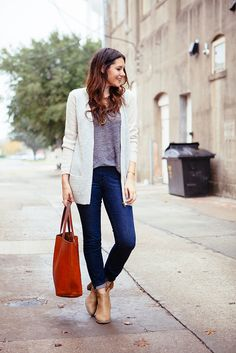 jean, everyday wear, blazer, ankle boots, smart casual, outfit, kendi everyday, casual fridays, oversized sweaters