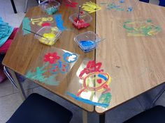 Painting on transparencies-Play; in a new way.