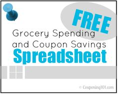 Free Grocery Spending and Coupon Savings Spreadsheet