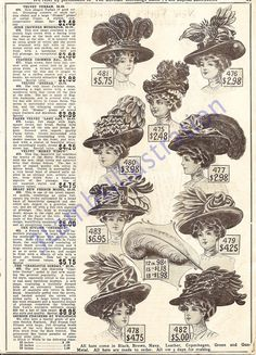 """The original """"Put a Bird on It""""? I found this gem in an old Edwardian clothing catalog."""