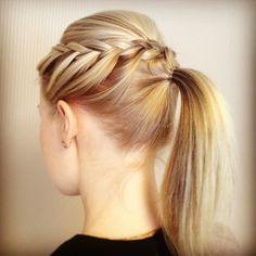 frenchbraid, backcomb ponytail