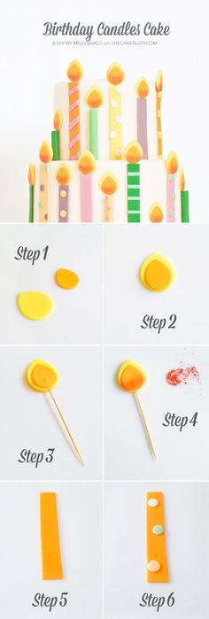 DIY Birthday Candles Cake | by Miso Bakes  |  TheCakeBlog.com @thecakeblog