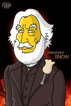"""""""The Hunger Games"""" Cast Simpsonized  March 21, 2012 in Art, Simpsons by Alexandre Maki"""