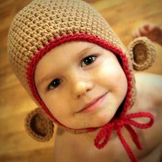 Monkey Hat crochet pattern--FREE