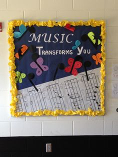 Bulletin board for music class. How could I use this idea in business education?