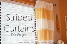 Striped Curtains DIY Project