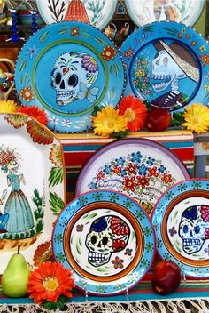 Day of the Dead giftware. 100% made in Tucson by HF Coors. #handpainted #leadfree #dishwashersafe