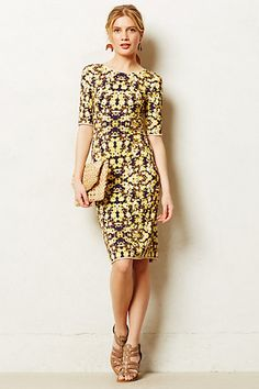 love the cut of this, check out the scoop in back.. Libby Dress #anthropologie