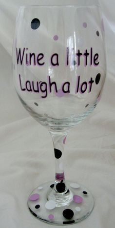 Wine a Little Laugh A Lot Personalized  Wine by MemorableDesigns, $10.00
