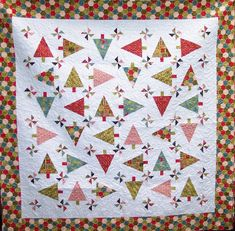 Jovial Trees and Pinwheels Quilt Kit - By BasicGrey for Moda