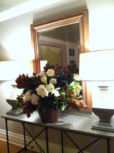 Holiday arrangement in a clients home.