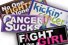 Cancer Awareness Decals
