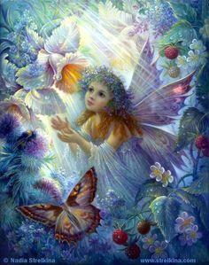 Flower fairy by *Fantasy-fairy-angel