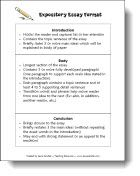 """Expository Essay Format"" Printable - Great reference for students to refer to while writing and reviewing."
