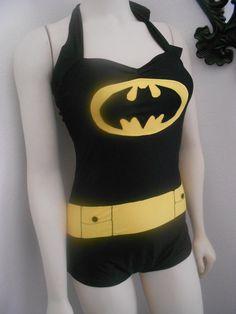 Batman swimsuit.