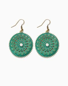 Patina Medallion Earrings | UPC: 410006753037 #charmingcharlie