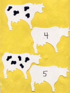match spots on cow to #