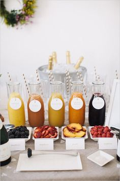 Create the perfect drink station for your party, wedding or event with bottles, jars and party straws you can find on our site here: http://www.lightsforalloccasions.com/c-400-bottles-jars.aspx #drinkstation #bottles