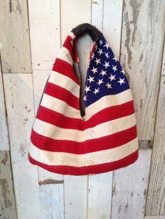 American Flag Hobo Bag