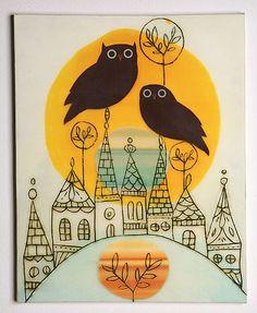 bird, interior design, wall art, urban outfitters, owl art, design files, art pictures, print, owls